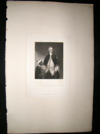 After Joshua Reynolds C1830 Mezzotint. Richard Second Baron Mount Edgcumbe
